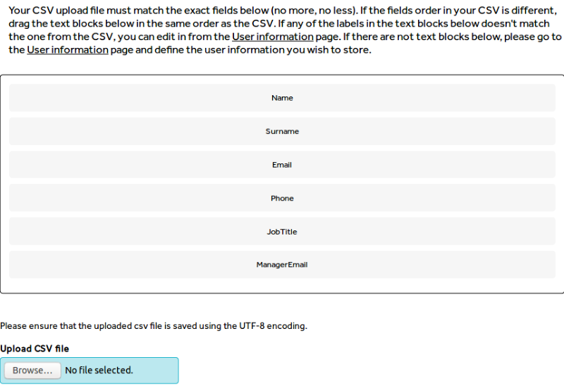 Showcase: possibility to upload users via a CSV file